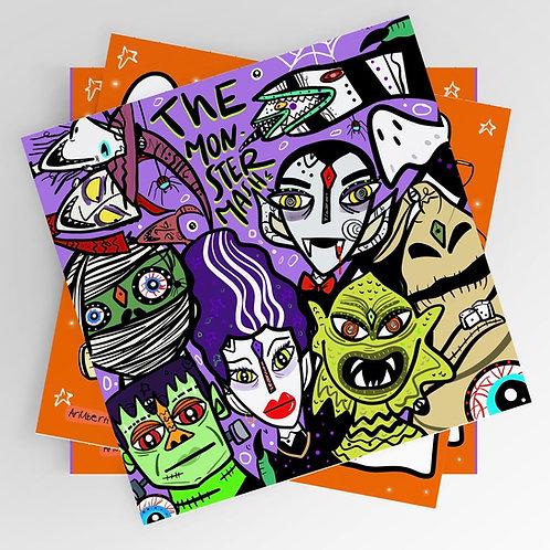 The monster mash 8x8 print