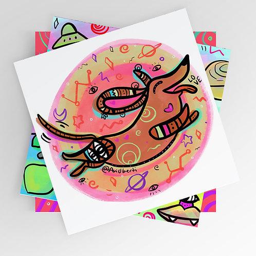 Flying Winnie 8x8 print