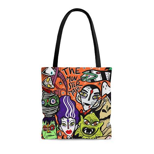 The monster mash tote bag