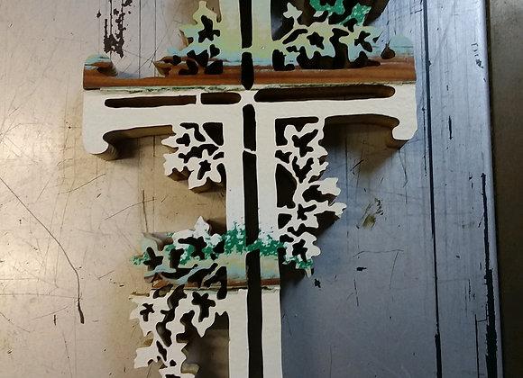Vine Cross on Barn Wood