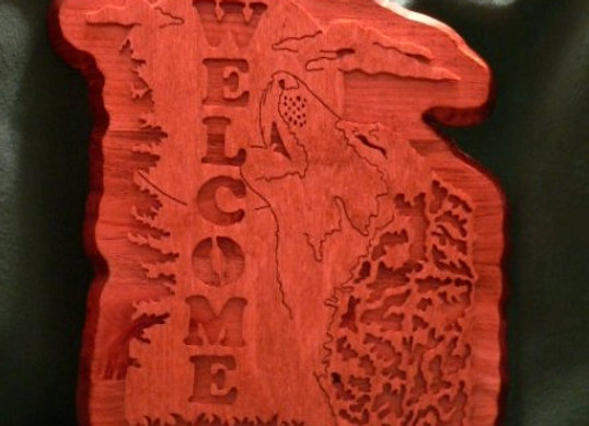 Wolf Welcome Plaque