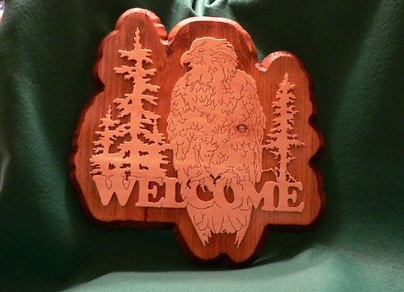 Eagle Welcome Plaque