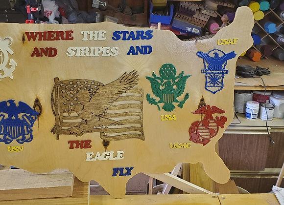 United States Military Plaque