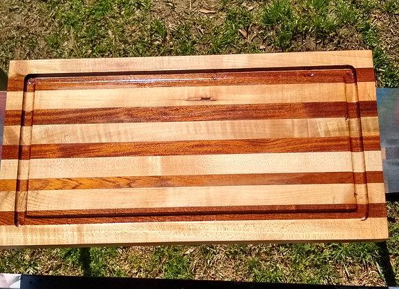 Maple and mahogany cutting board
