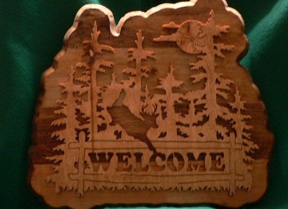 Deer Welcome Plaque