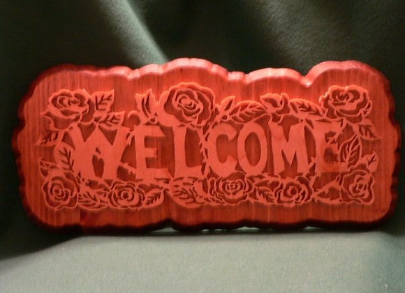 Rose Welcome Plaque