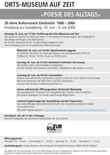 2006 20 Jahre des Kulturvereins Eierbrecht