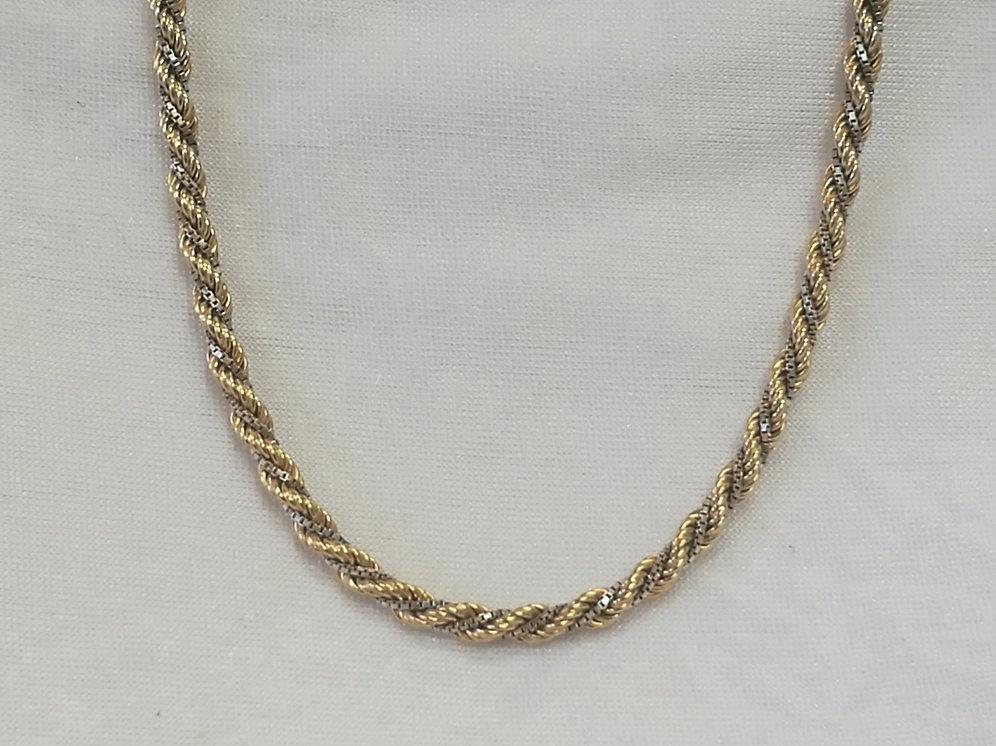 design di qualità 868c3 9e936 Collana Intrecciata bicolore oro giallo e bianco 18 kt - 19.94gr
