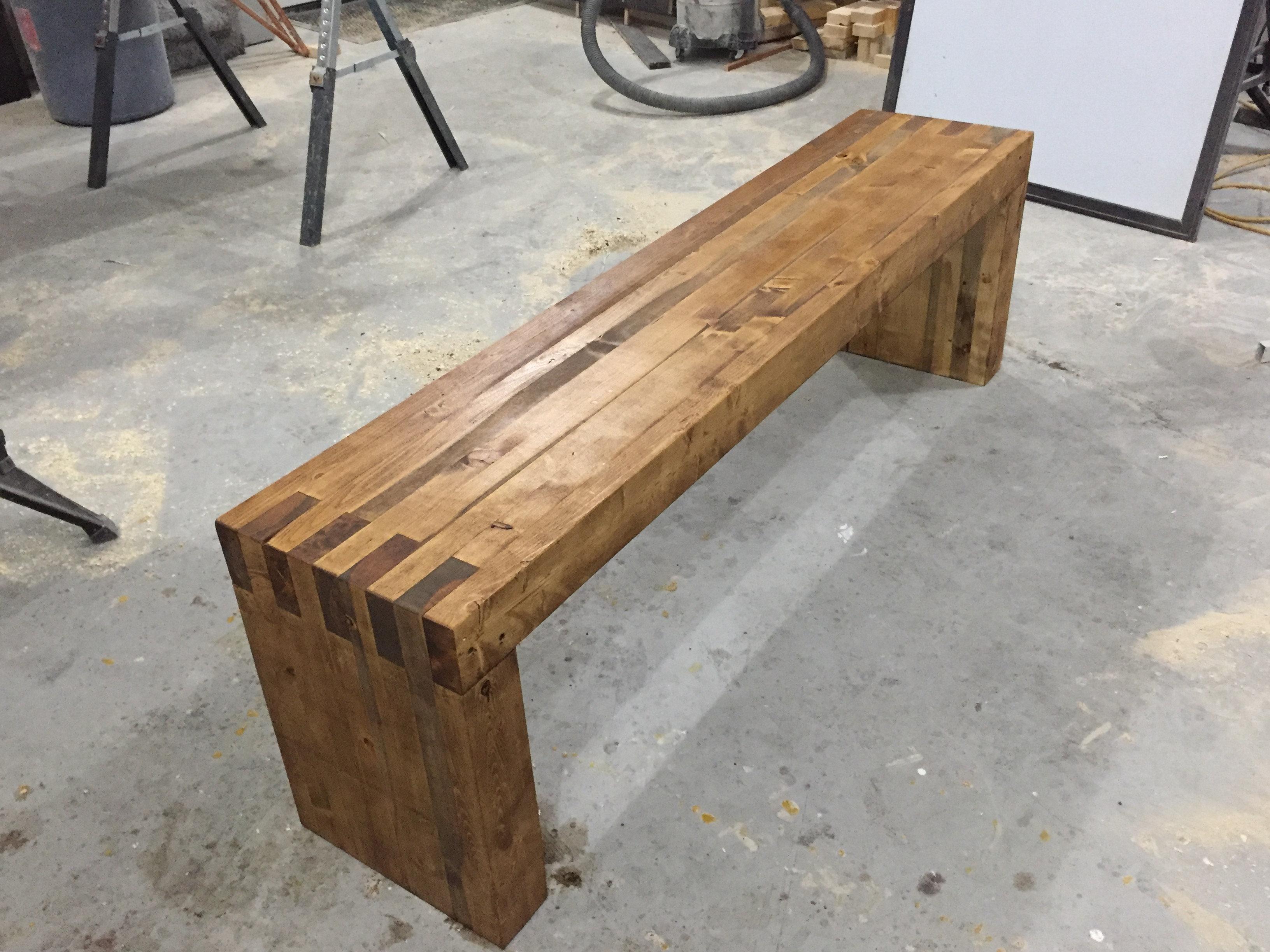 Rustic Solid Wood Bench Website