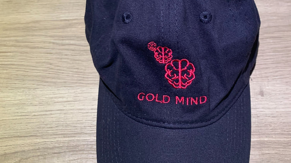 Black & Red Mind Of Gold Twill Cap