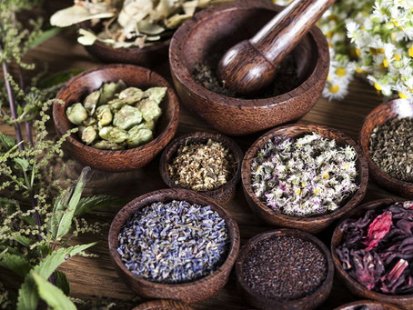 Using herbs to color natural skincare products