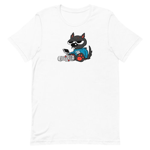 Wolf with a Camera Color Tees