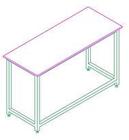 H Frame Desk
