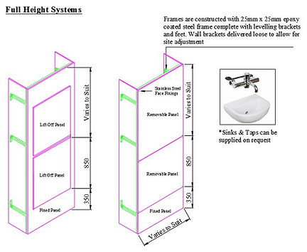 Full Height Healthcare IPS Wall Duct Panel