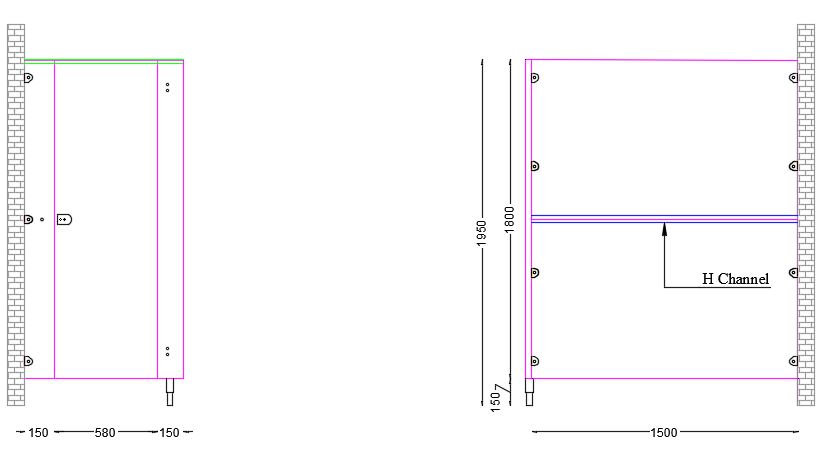Contractor Range Toilet Cubicle Panel Dimensions for Contractor Range Toilet Cubicles