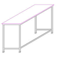AutoCAD design drawing of School Desk wi