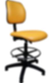 Lab High Chair in Orange Vinyl
