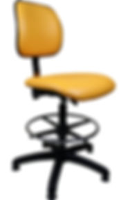 Lab High Chair in Orange Vinyl