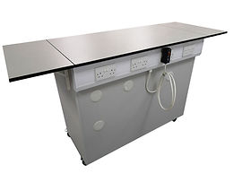 Mobile Bespoke Workbench with Electric Pack & Fold Down Worktop