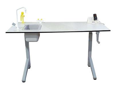 wind up crank table sink gas eye wash el