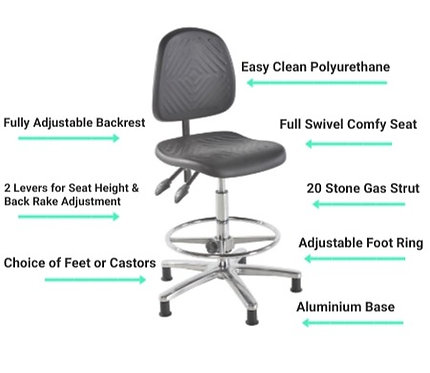 401 Deluxe Clean Room High Chair