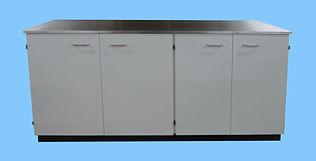 Double cupboards   with Galvanised Steel Worktop