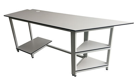 22098 - bespoke table with shelves and w