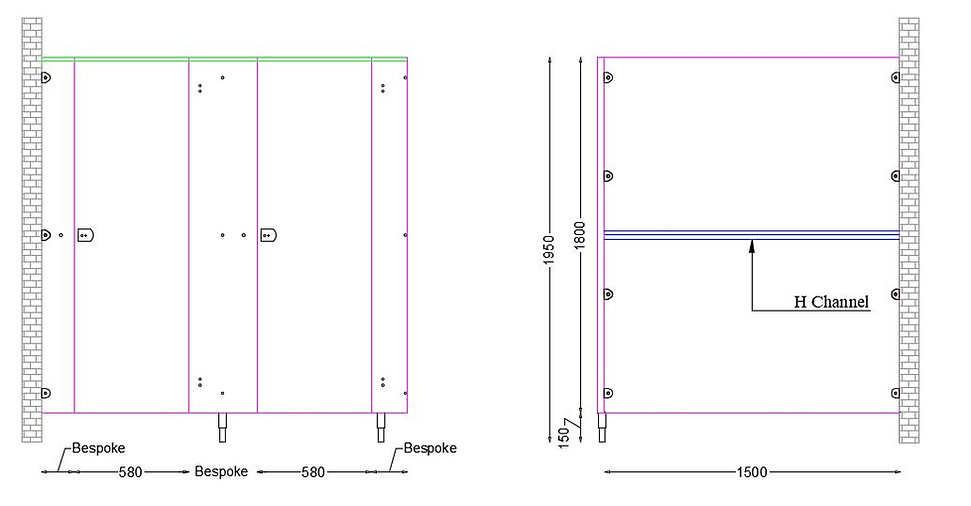 DA Economy Range Panel Dimensions for To