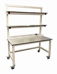 adjustable shelves electric mobile bench
