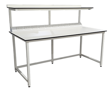 27526 - Bespoke Laboratory table with el