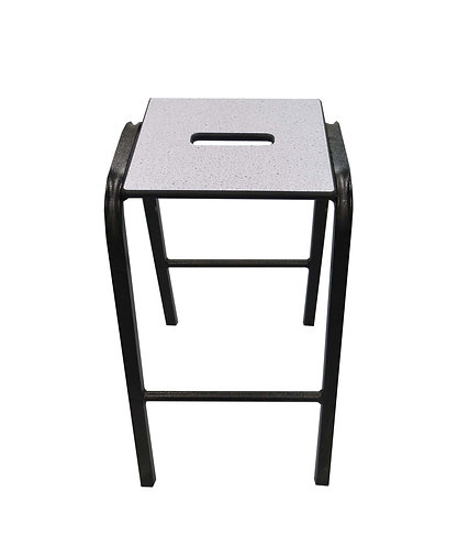TSS2 Lab Stacking Stool with Slotted Trespa Seat