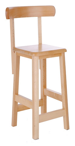 WS002 Wooden Laboratory Stool with Backrest