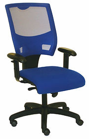 Operations Office Chair in Blue Fabric