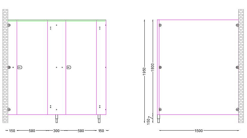 Standard Panel Dimensions for UK Cubicles CU Range