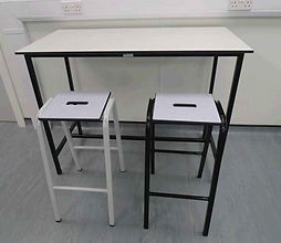 school bench with stacking stools uk.jpg