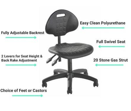 A13 Budget Polyurethane Laboratory Low Chair