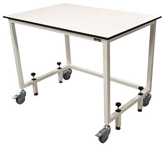 lab table with stability jack up legs 26