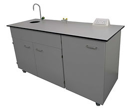 mobile workbench sink gas electrical power