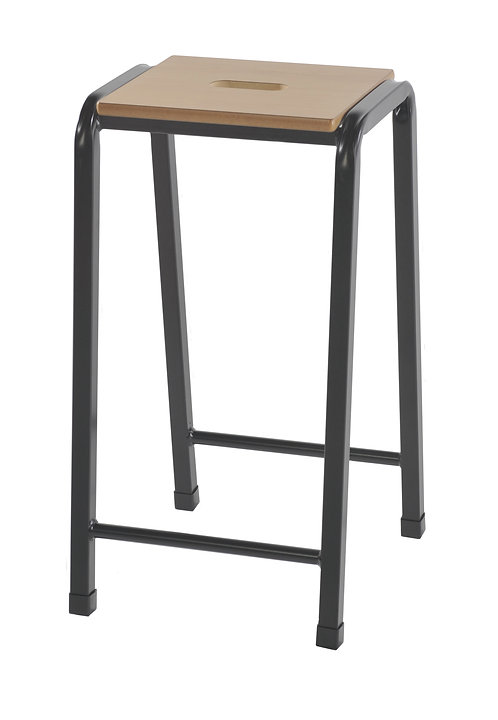 LS001 Laboratory Stacking Stool with Wooden Seat