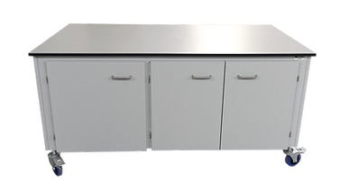 21369 mobile table with inbuilt cupboard