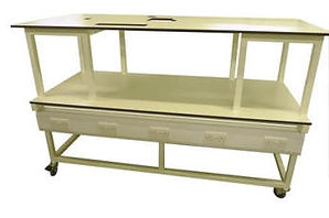 Mobile Workbench with Electrical Pack and High Level Shelf with Cut Outs