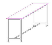 AutoCAD drawing of School Lab Table Desk