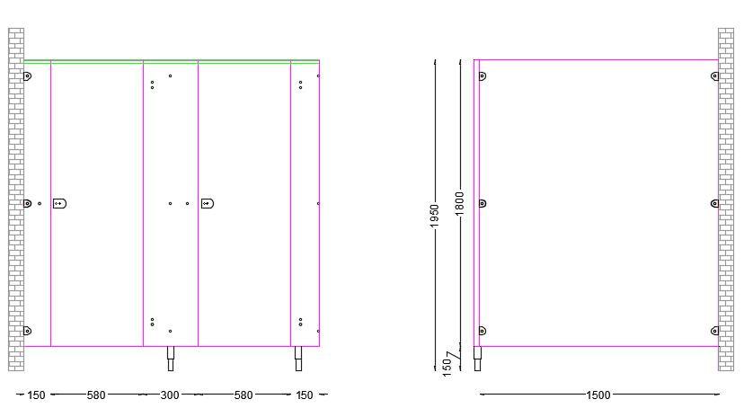 Standard Panel Dimensions for UK Cubicles DA Range