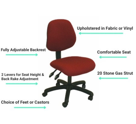 A1 Medium Back Operators Office Chair