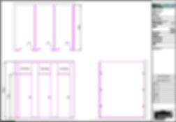 AutoCAD layout of 13mm CGL full height privacy toilet cubicles