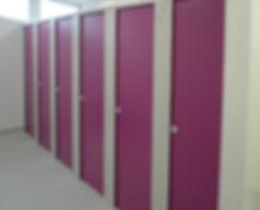 Floor Sat Toilet Cubicles - Heather & Grey