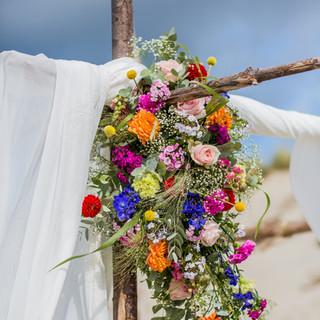Prieel met bloemen