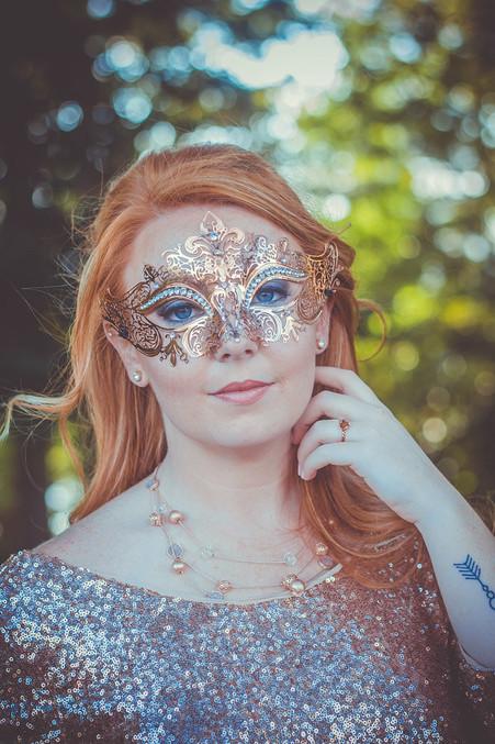 Masquerade Wedding Bride
