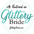glittery bride badge Georgia wedding pho