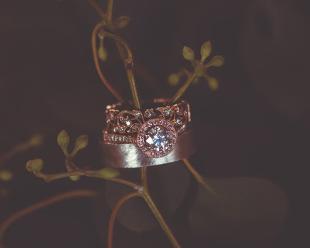 Rose Gold Wedding Rings Georgia Photographer